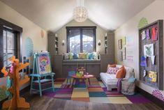 طراحی دکوراسیون داخلی اتاق خواب کودک Living Room Playroom, Fancy Living Rooms, Playroom Table, Fresh Living Room, Modern Playroom, Living Room Drapes, Playroom Furniture, Playroom Storage, Playroom Design