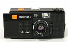 Rollei Rolleimatic, good f/2.8 lens. Rare these days and hard to find. Pocketable 35mm camera