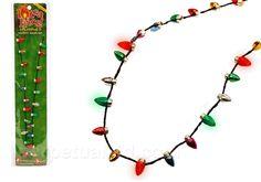 Flashing Christmas Lights Necklace