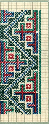 Embroidery samples, Vrlika, Croatia (former Yugoslavia), circa :: Blanche Payne Regional Costume Photograph and Drawing Collection Cross Stitch Geometric, Asian Bridal, Regional, Croatia, Photograph, Costume, Embroidery, Quilts, Patterns