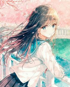 Uploaded by Wendy. Find images and videos about kawaii and anime girl on We Heart It - the app to get lost in what you love. Anime School Girl, Girls Anime, Anime Girl Cute, Beautiful Anime Girl, Kawaii Anime Girl, Anime Art Girl, Anime Neko, Manga Girl, Anime Girl Brown Hair