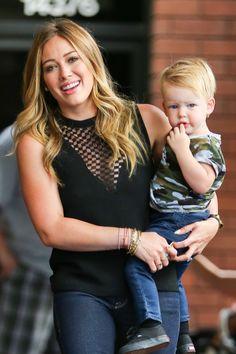 Hilary Duff  Her Lil' Blondie Luca - http://celeboftea.com/hilary-duff-her-lil-blondie-luca/