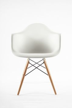 The Mid Century Eiffel Arm Chair with Wooden Dowel Legs | Wayfair; $144; out of stock, buy from somewhere else