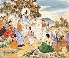 Jesus Feeds 5000, by Kim Ki-chang #koreanjesus