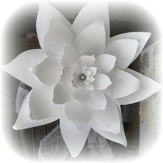 Weddings Large Paper flower 22 inches in the color of by mcfunk90, $44.00
