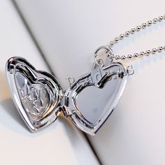 Fashion Locket Necklace, Brass, with 2lnch extender chain, Heart, plated, with photo locket & ball chain & enamel, more colors for choice, nickel, lead & cadmium free, 23x19mm,china wholesale jewelry beads