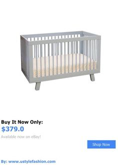 Other Nursery Furniture: Babyletto Hudson 3-In-1 Convertible Crib In Grey - M4201g BUY IT NOW ONLY: $379.0 #ustylefashionOtherNurseryFurniture OR #ustylefashion