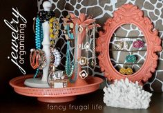 DIY home projects | Favorites: spraypainting different pieces to create a jewelry set!