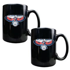 Atlanta Hawks 15oz. Coffee Mug Set - Black - $29.99