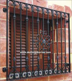 Window Grill Design Modern, Grill Door Design, Door Gate Design, Wrought Iron Decor, Wrought Iron Fences, Iron Windows, Iron Doors, Window Security Bars, Iron Window Grill