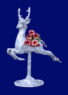 Deer- Carousel Deer Planter