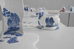 Melting Ceramics by Livia Marin pattern cups China ceramics