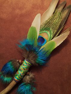 smudging fans | Smudge Fan- Looking Inward- Sacred Prayer Fan with Twisty Root Handle