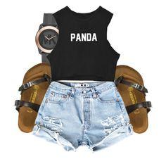 """Panda Panda Panda"" by beautyuniqueblossoms ❤ liked on Polyvore featuring Michael Kors and Birkenstock"