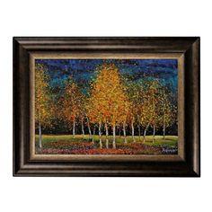 Birches on Blue Framed Art Print | Kirklands