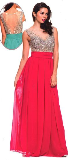 Prom Dresses Evening Dresses under $200<BR>:563<BR>Sweetheart bodice long gown with beaded scoop neckline illusion netting front and back