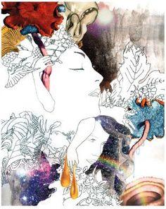 Homage to Deanne Cheuk Research - Design/Artist by Sophie Ormsby, via Behance Graphic Design Illustration, Illustration Art, Solar, Pix Art, Weird Art, Strange Art, Gcse Art, Native American Art, Magazine Art