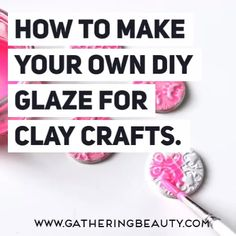 Learn how to glaze your air dry clay projects with your own homemade glaze All you need are a few simple ingredients to make a cheap colourful gloss to seal your air dry clay crafts airdryclay claycrafts diy crafts # Polymer Clay Crafts, Diy Clay, Homemade Polymer Clay, Homemade Clay Recipe, Polymer Clay Recipe, Diy Air Dry Clay, Air Drying Clay, Air Dry Clay Crafts, Clay Crafts For Kids