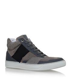 Lanvin Chaussures De Sport Salut-dessus Texturées - Bleu KYJw2E95D