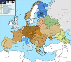alternate history - Neuropa, Europe if the Nazi's had won European History, World History, Ancient History, Historical Maps, Historical Pictures, Imaginary Maps, Map Pictures, Mystery Of History, Fantasy Map