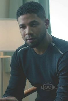 Jamal Lyon wearing The Kooples Textured Sweater With Zip Detail