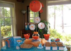 Goldfish printables...and where to find that almost paper lantern?