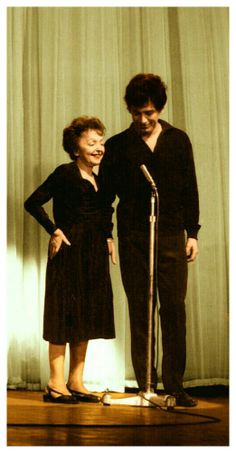 Edith Piaf and Theo Sarapo 1962 Colorization