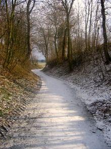 Holle Weg, Merkelbeek, Zuid-Limburg.