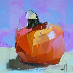Angela Moulton - daily painting. http://angelamoulton.blogspot.com/2014/09/little-pumpkin-no-3-painting.html