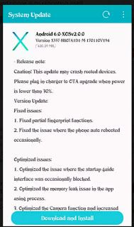 A New OTA Software Update Available for Infinix Hot 4