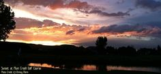 Plum Creek Golf Course at Sunset 2012 Castle Rock Colorado - Best small city in Colorado Castle Rock Colorado, Douglas County, Living In Colorado, Colorado Wedding Venues, Small Towns, Sunsets, Plum, Golf Courses, World