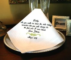 Father of The Bride Wedding GIft Handkerchief by MisterandMrs, $22.95