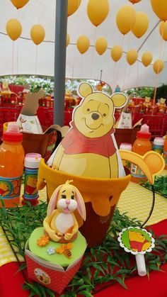 Fun Winnie the Pooh birthday party! See more party planning ideas at CatchMyParty.com!