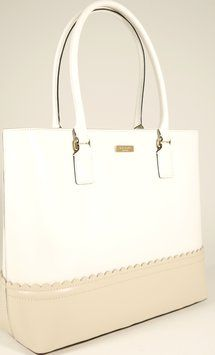 Kate Spade Tote in Chalk White and Fawn
