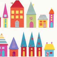 'They Lived In A Paper Village' art print - Folksy