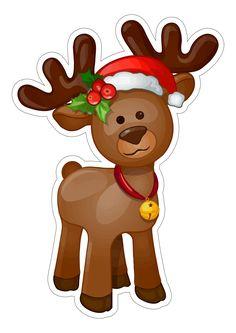 Alce de natal ideal para centro de mesa Diy Christmas Garland, Christmas Topper, Dollar Tree Christmas, Christmas Canvas, Christmas Art, Christmas Decorations, Diy Garland, Christmas Graphics, Christmas Clipart