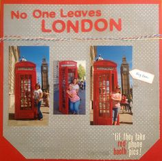 London. Scrapbook page.