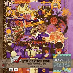 Scraps N Pieces -  Joyful Expressions: Expedition India Kit - PU/S4H/S4O $3.49