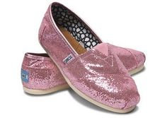 Pink Glitter Toms a must have! @Bekah Heightman i love these!