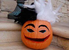Cruella de Vil Pumpkin Craft: Halloween Crafts for Kids - Kaboose.com