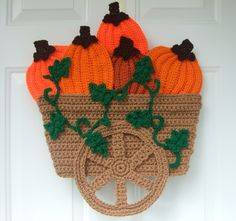 Pumpkin Wagon Door Hanging Pattern