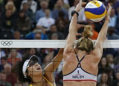 Walsh Jennings and May-Treanor advance to Finals in beach volleyball- Walsh stuffs it to win!