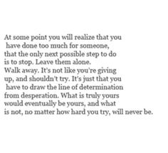 No matter how hard you try