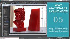 Vray Materiales Avanzados - Parte 05 - Translucency - SubSurface Scattering