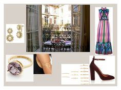 """""""balcony"""" by maybejustonetear ❤ liked on Polyvore featuring Natalie B, Aquazzura, Forever 21, Anna Sui, Marchesa, Ann Taylor and Gypsy"""