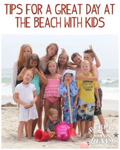 tips for the beach with kids - without the preservative filled caprisuns and uncrustables. Love the baby powder idea!!