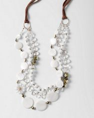 Chan Luu Stone Tiered Necklace - White