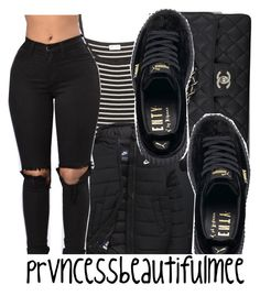 """""""april fools """" by prvncessbeautifulmee ❤ liked on Polyvore featuring Chanel, Yves Saint Laurent, NIKE and Puma"""
