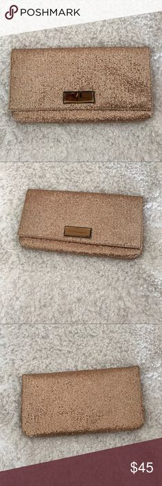 """BCBGeneration clutch BCBGENERATION GOLD CLUTCH. LENGTH 11 1/2"""".   HEIGHT 6"""". LIKE NEW. BCBGeneration Bags Clutches & Wristlets"""