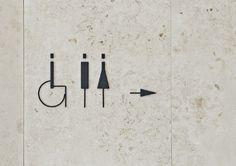 Signage Design for Yamatane Museum of Art; Toilet Signage, Bathroom Signage, Environmental Graphic Design, Environmental Graphics, Signage Design, Typography Design, Wc Icon, Web Design, Logo Design